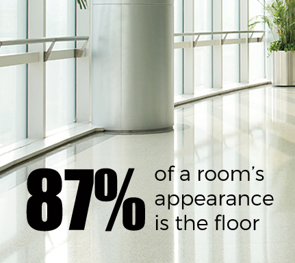 87% of a romm's appearance is the floor.