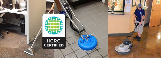 IICRC certified cleaning equipment.