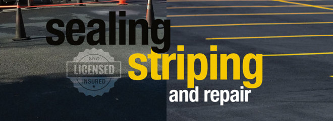 MPS offers Parking lot sealing, striping and repair.