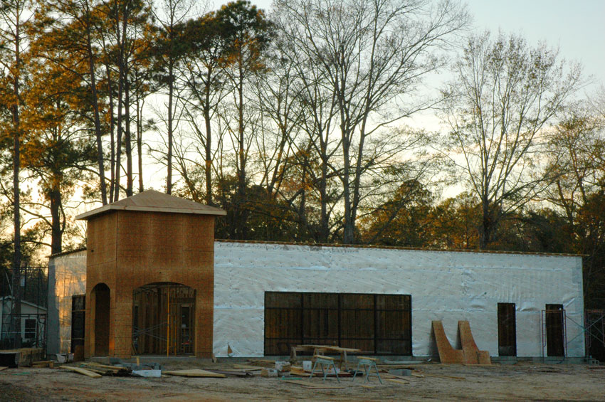 Commercial building construction nearing completion - Mainstreet Property Services.