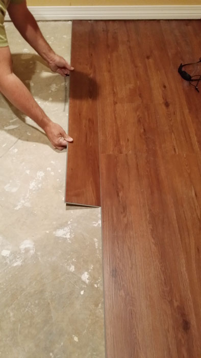 Professional floor installation by MPS tech