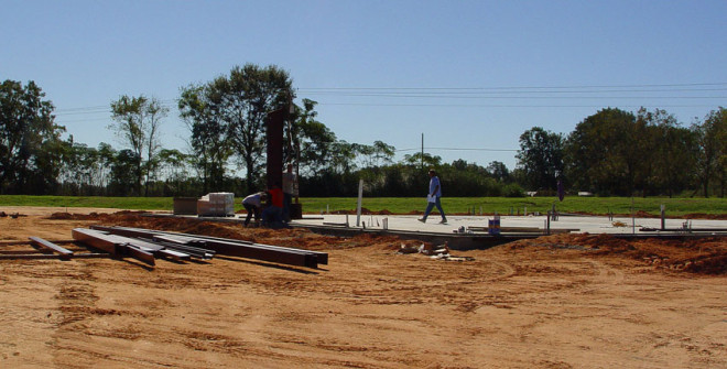 Grading and foundation of storage facility - Mainstreet Poverty Services.