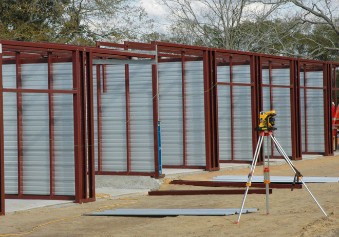 Storage facility constructed by Mainstreet Property Services.